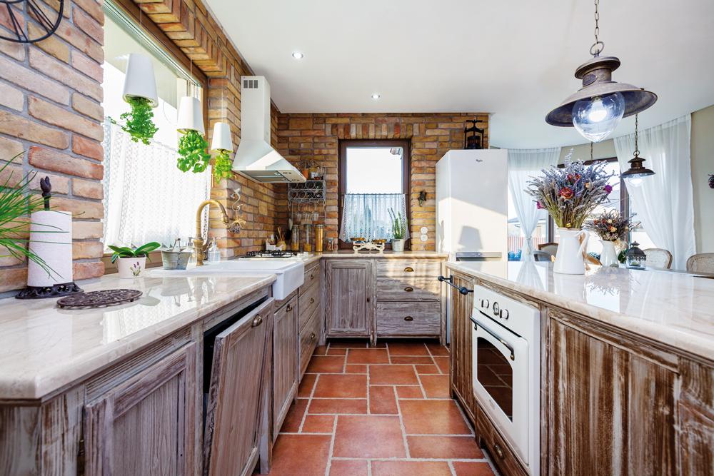 Cihlový obklad do kuchyně