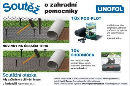 Výsledky soutěže o záhradní pomocníky Linofol
