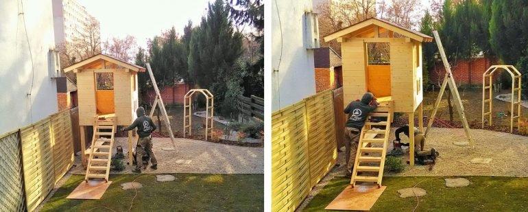 zahradní domek pro děti