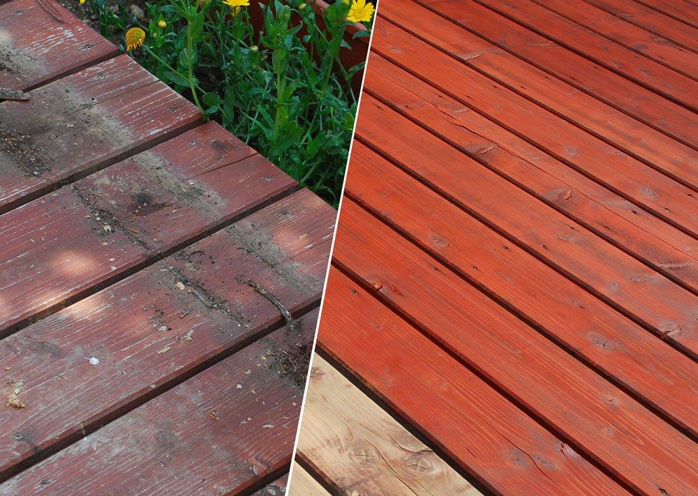 obnova dřevěné terasy