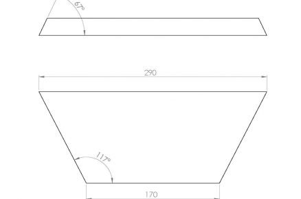 bočnice, úhel řezu pyramidového záhonu