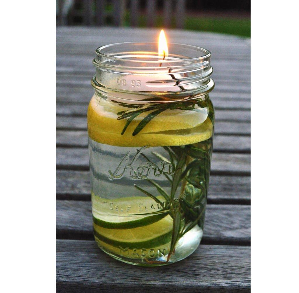 Domácí repelentní svíčka proti hmyzu