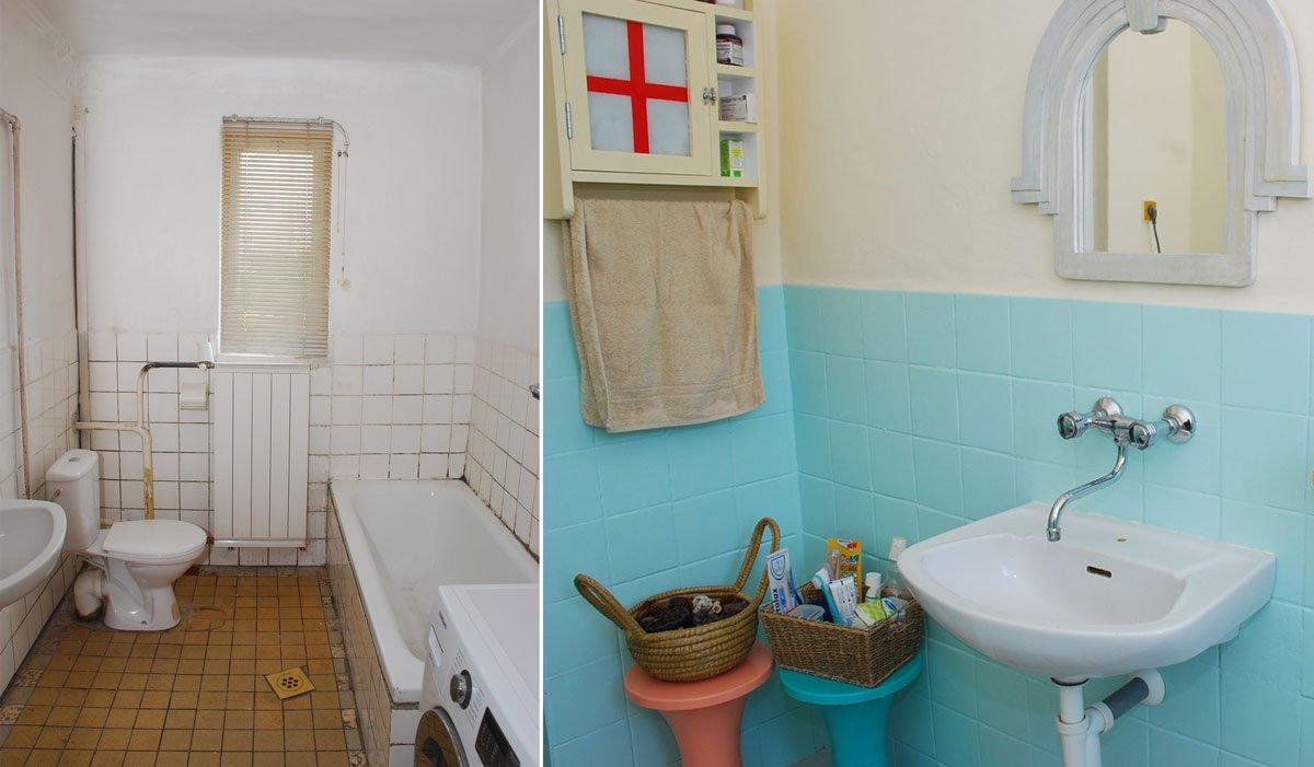 renovace koupelny před a po