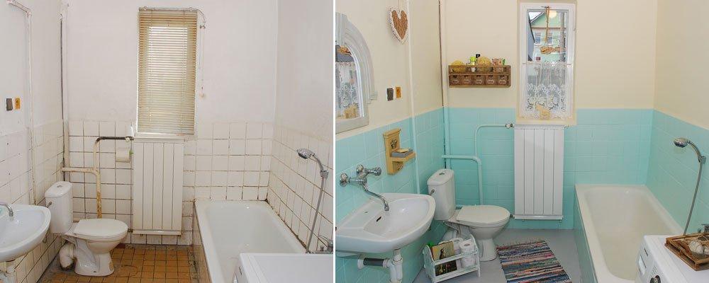 renovace podlah, vany a radiátoru v koupelně