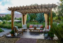 zahradní dřevěná pergola