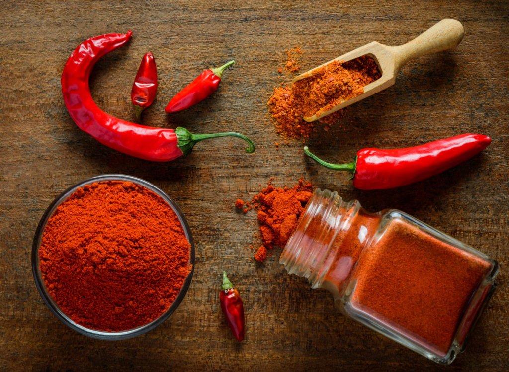 chilli paprika a koření