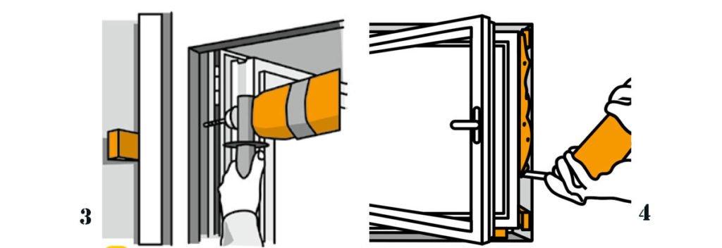 obrázkový návod k výměně oken - ukotvení a fixace okenních rámů