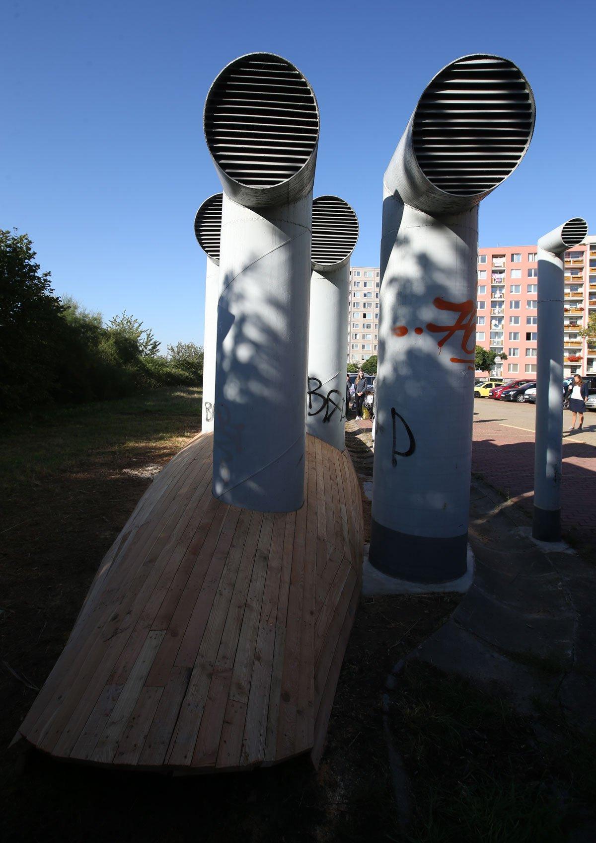 dětská prolézačka Ponorka na Černém Mostě