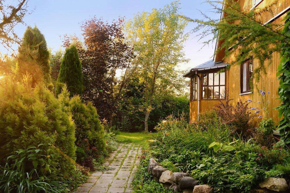 klasická venkovská zahrada