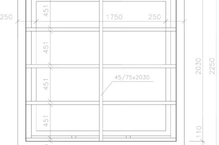 rozměry střechy skleníku, technický nákres