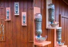 krmítko pro ptáky z PET lahve