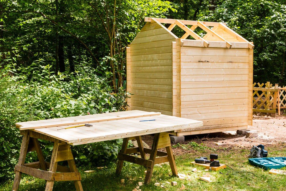 výběr zahradního domku: svépomocná stavba