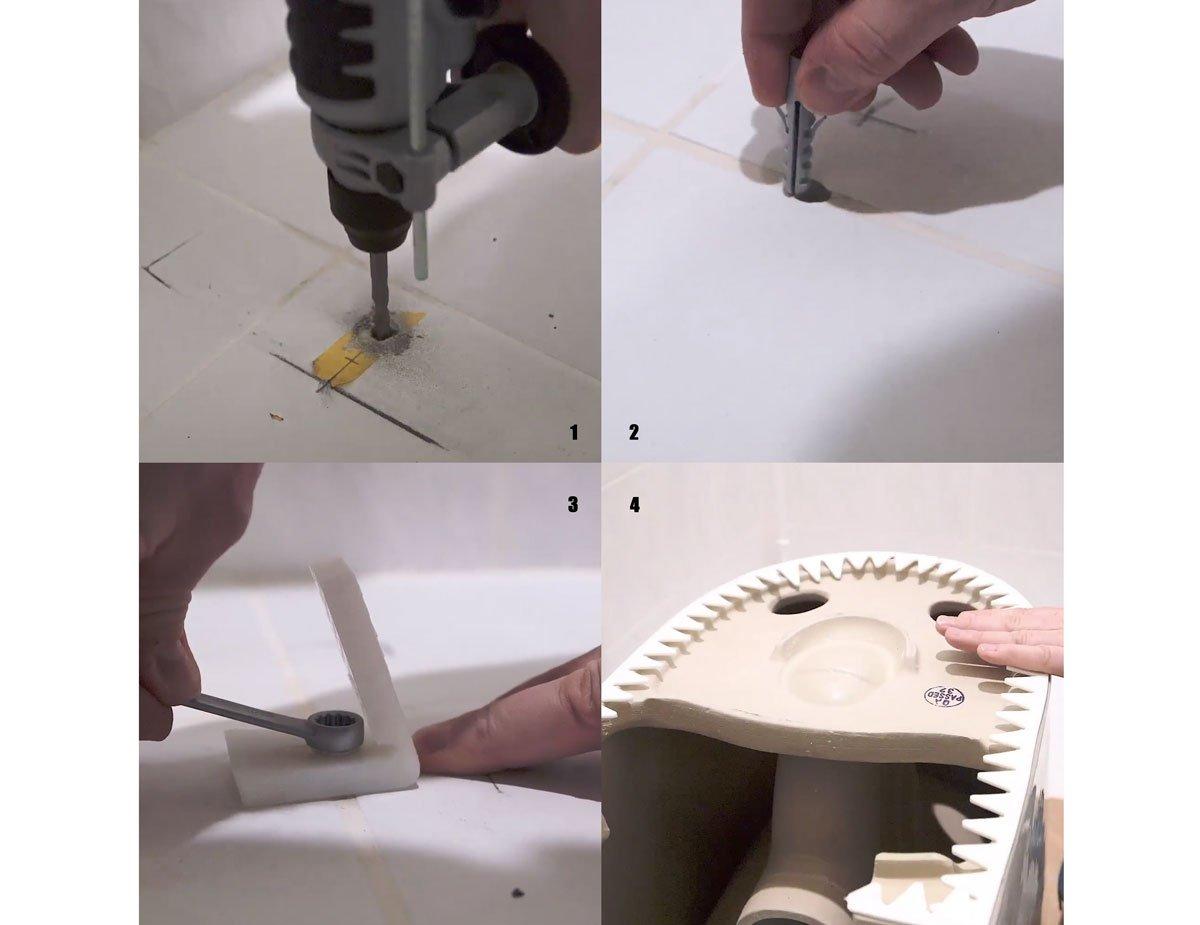 Jak upevnit stojací WC mísu