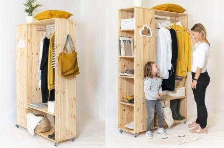 Vyrobte si mobilní šatník pro ukládání oblečení či oblíbených knížek (video)