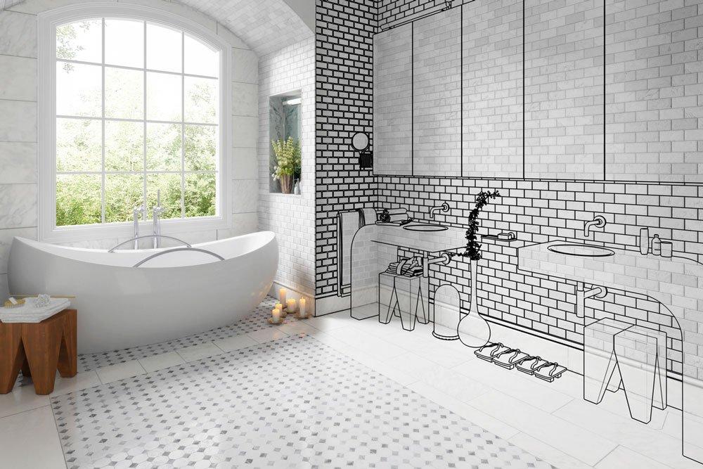 Na co je potřeba myslet před rekonstrukci koupelny: návrh uspořádání koupelny