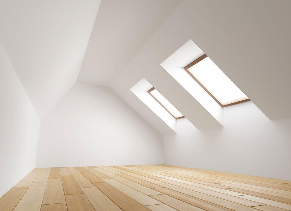 Co použít na vyrovnání a zateplení podlahy v podkroví: podkrovní místnost
