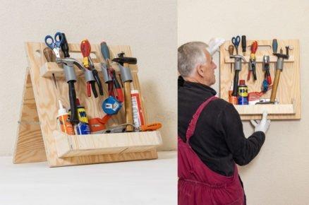 Vyrobte si do dílny jednoduchý stojan na nářadí