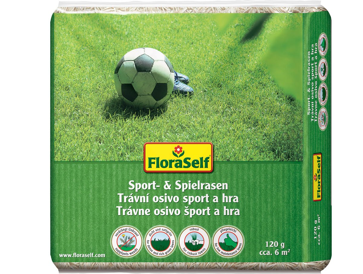 Travní směs FloraSelf sport a hra na výsev trávníku