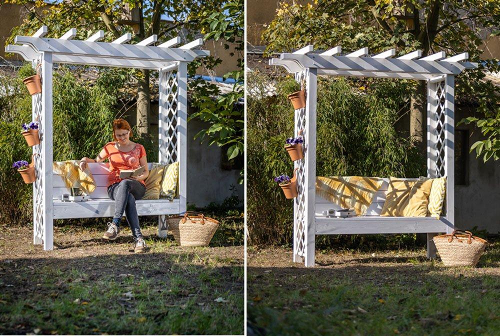 Jak postavit pergolu s lavičkou