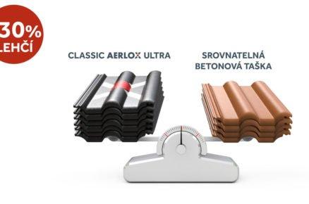 Střešní krytina Classic AERLOX ULTRA: porovnání s běžnou krytinou