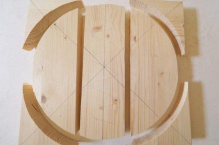jak vyrobit balanční desku: řez částí