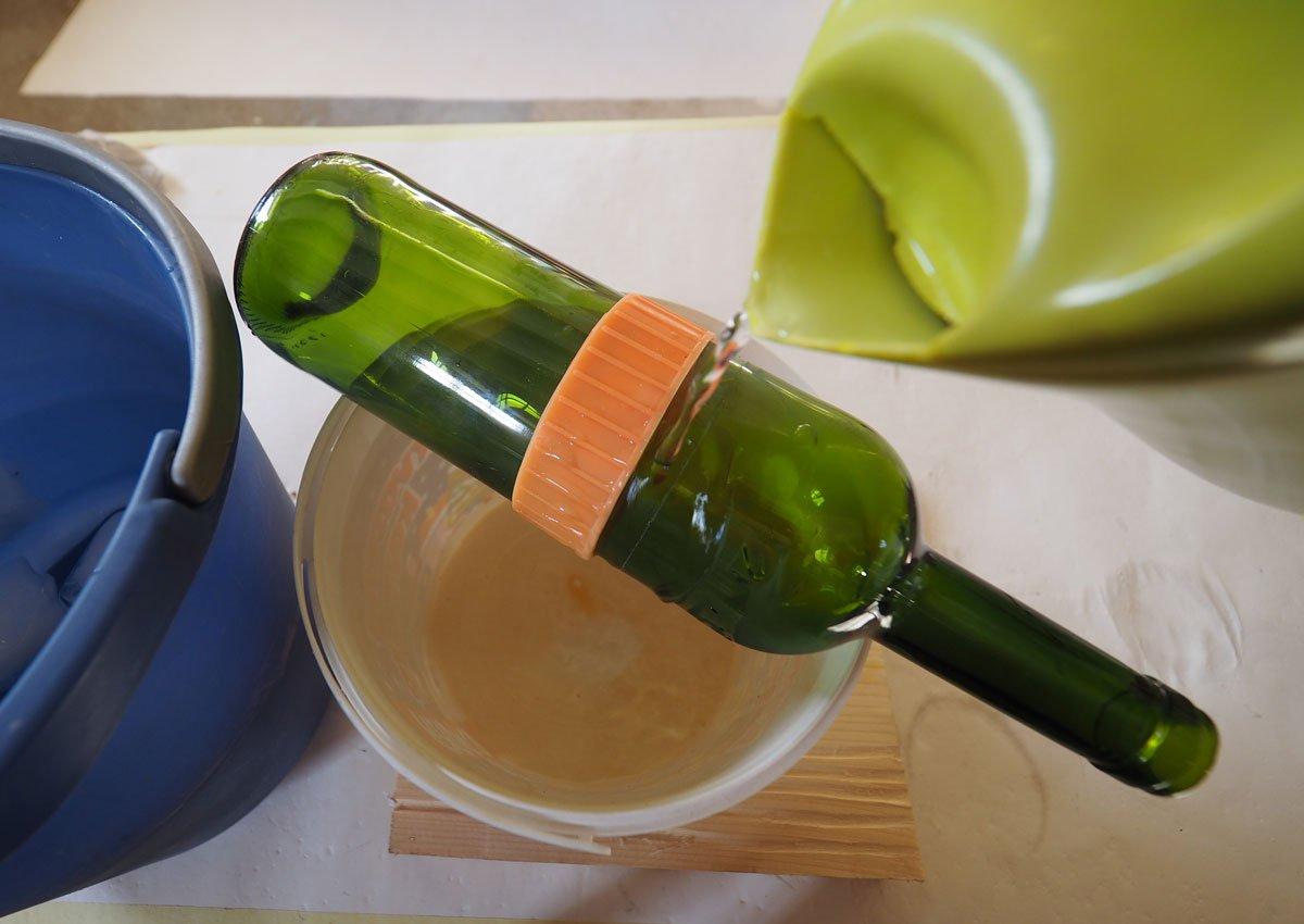 Jak rozřezat lahev: Nahřátí lahve