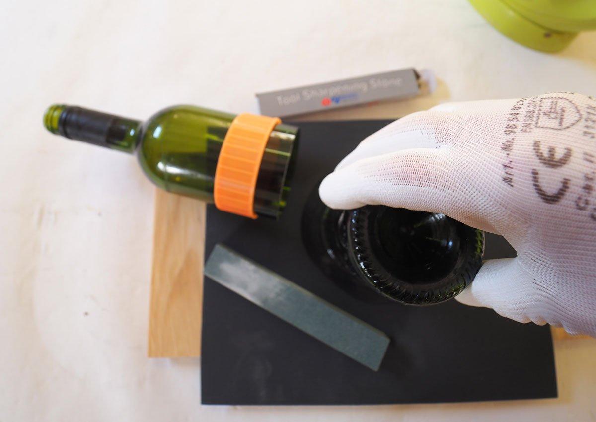 Jak rozřezat lahev: Zabroušení