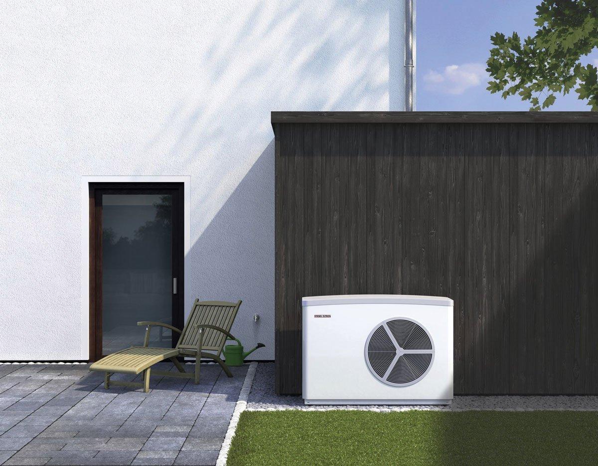 Vyhrajte 100 000 Kč na tepelné čerpadlo: tepelné čerpadlo před domem