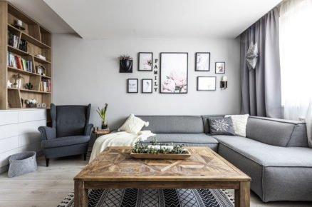 Obývací pokoj v severském stylu
