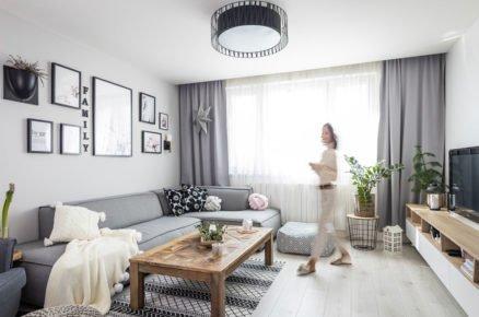 Rekonstrukce panelákového bytu po rodičích vnadčasovém severském stylu