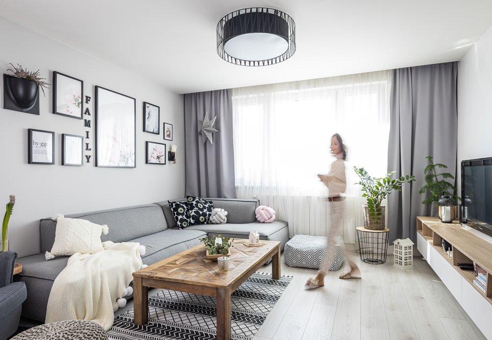 Obývací pokoj ve skandinávskem stylu