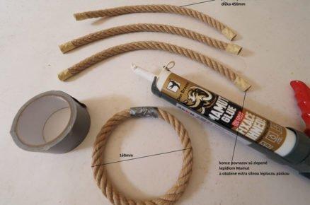 výroba házecí hry s kroužky - kroužky