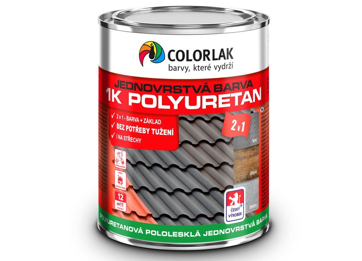 1K POLYURETAN U2210 polyuretanová jednovrstvá jednosložková pololesklá barva