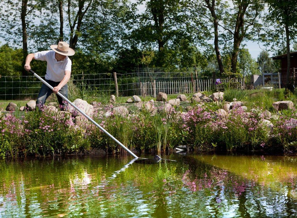 údržba zahradního jezírka