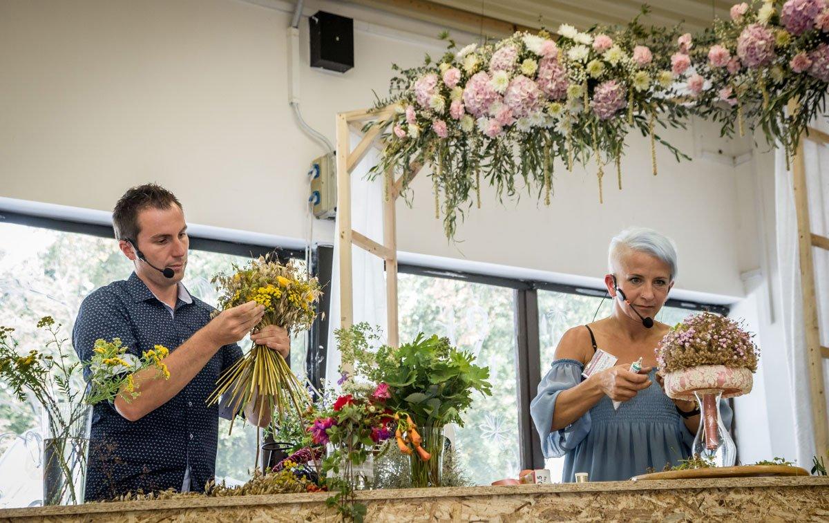 Floristická show na letní Floře Olomouc