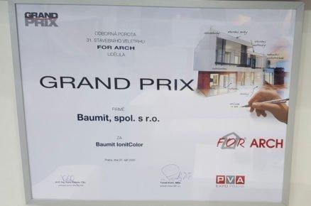 Ocenění vsoutěži GRAND PRIX pro Baumit