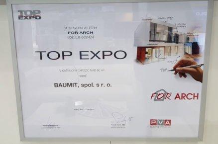 Ocenění vsoutěži TOP EXPO pro Baumit
