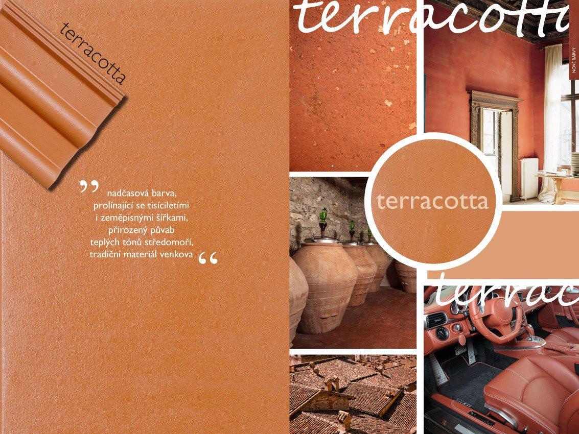 Betonové tašky v barvě terakoty