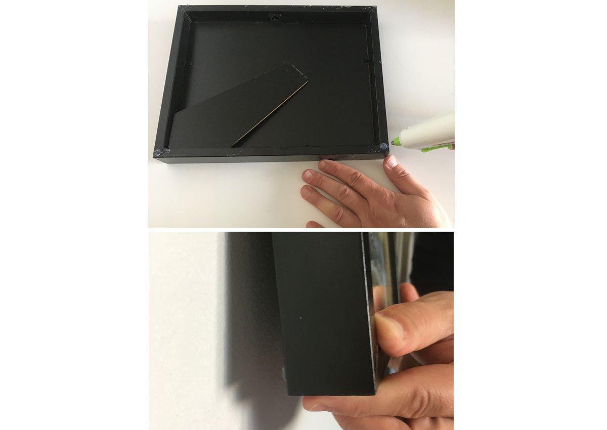 Zlepšovák s lepidlem aby se obrazy na stěně nehýbaly