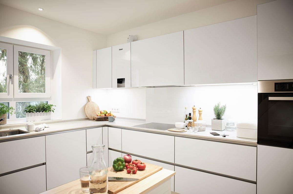 kuchyňská linka se zabudovaným kondenzačním plynovým kotlem