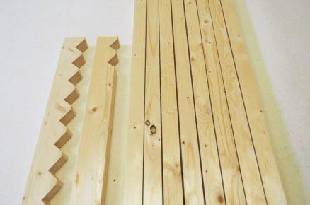jak vyrobit dřevěnou rohožku na boty: vyměření