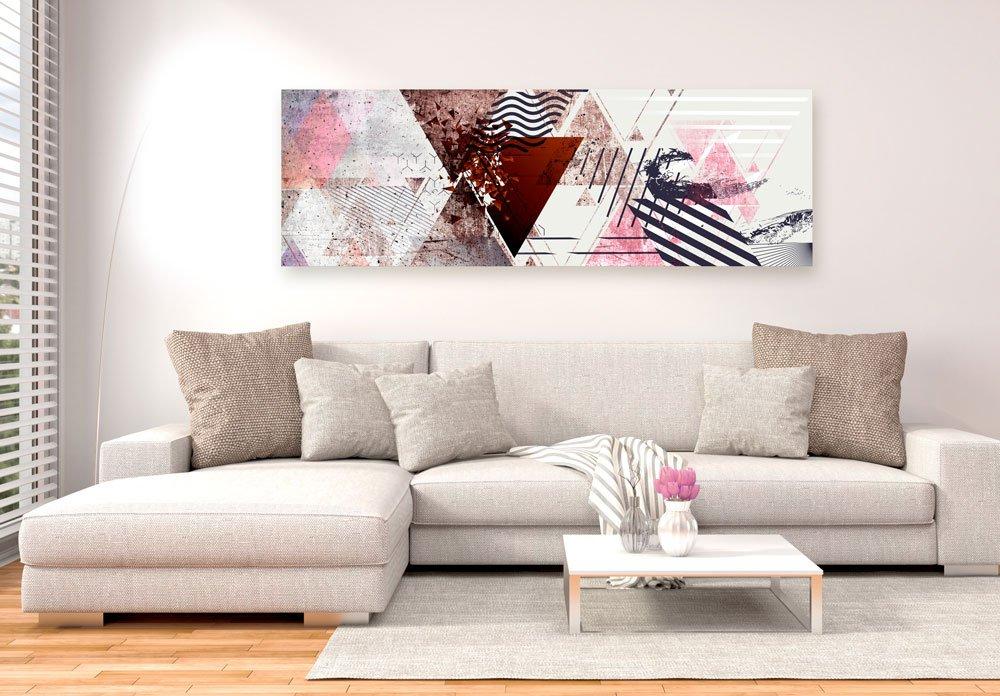 abstraktní obraz s geometrickým pozadím