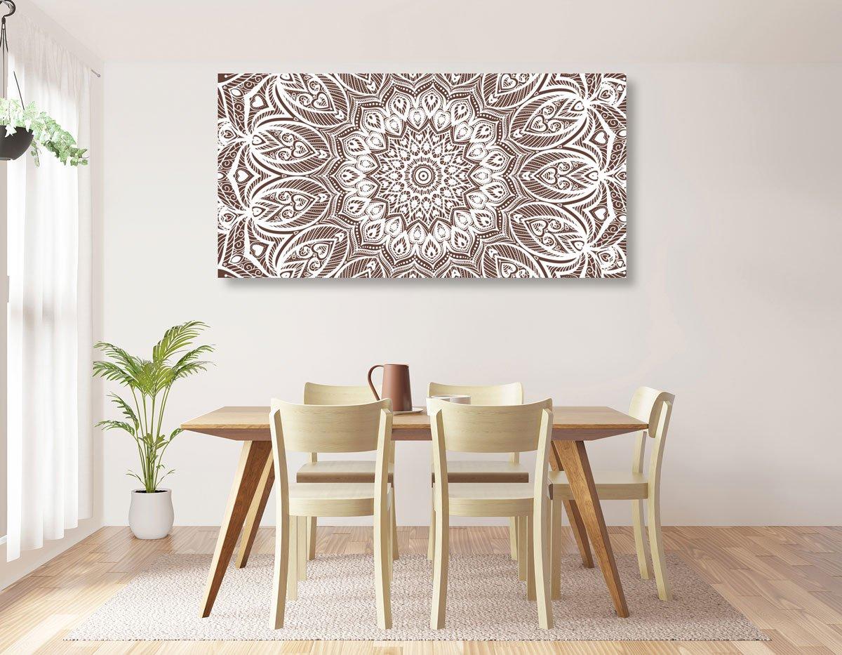 Oblíbený obraz Mandaly harmonie na hnědém pozadí