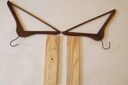 jak vyrobit věšák ve tvaru býčí hlavy: příprava materiálů pozostávající z desek a věšáků