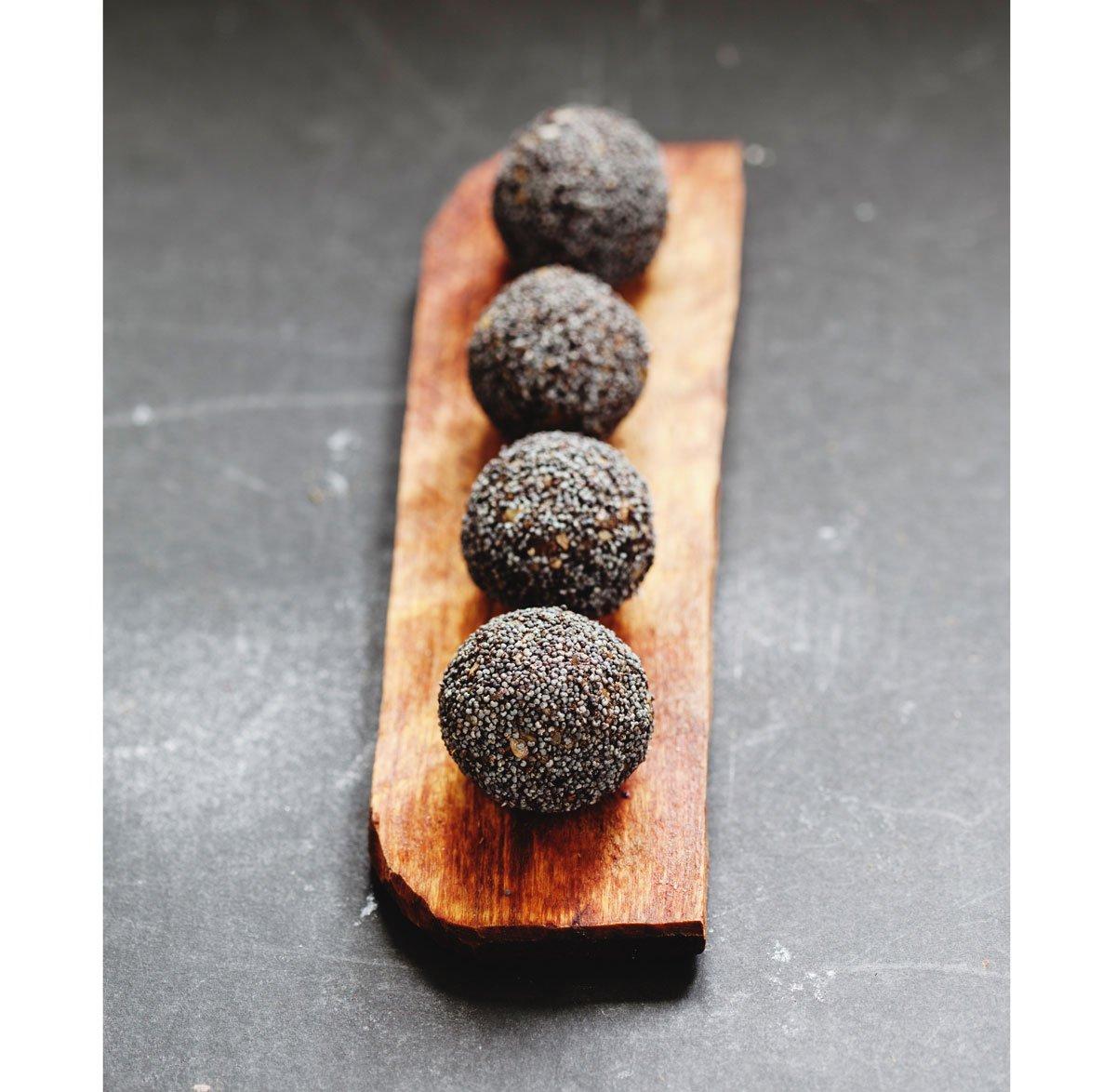 Recept na makové kuličky plněné brusinkami
