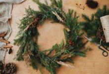4 vánoční přírodní dekorace z chvojí