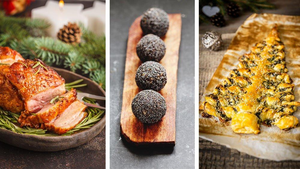 Svátečné recepty: medová šunka, makové kuličky a slaný stromeček z listového těsta