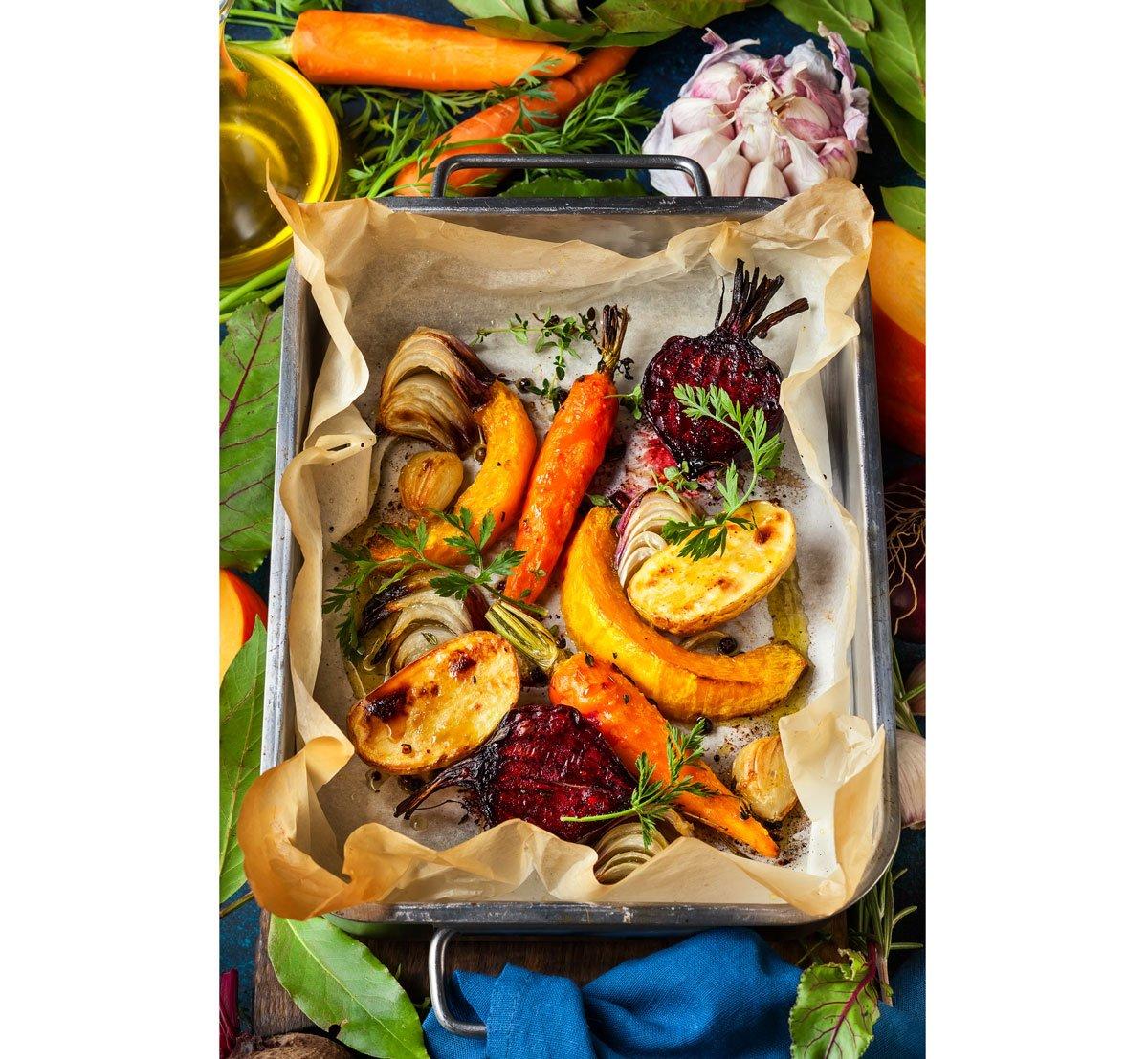 Recepty z červené řepy: pečená kořenová zelenina