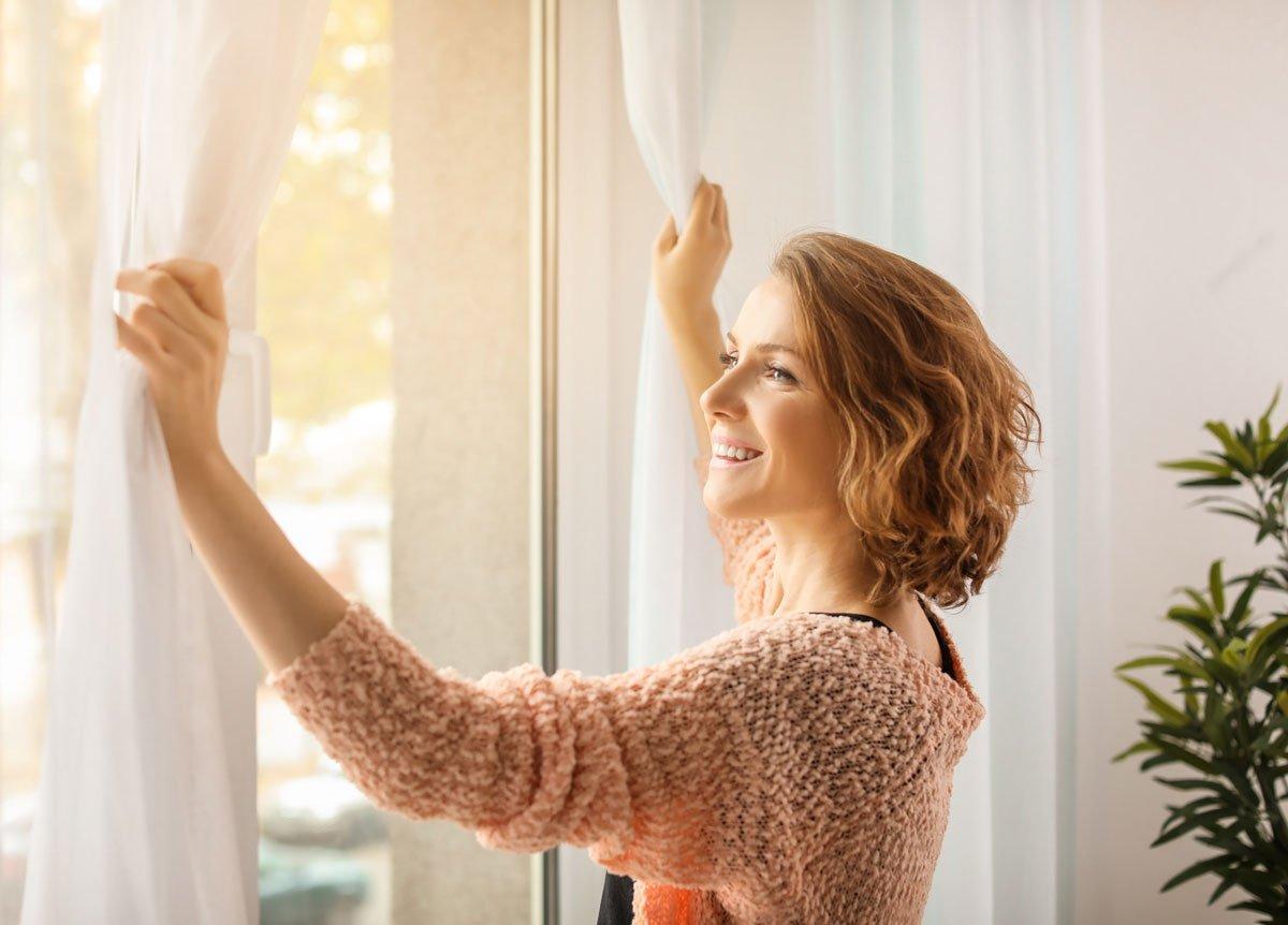 Jak využít ocet v domácnosti: Svěží záclony