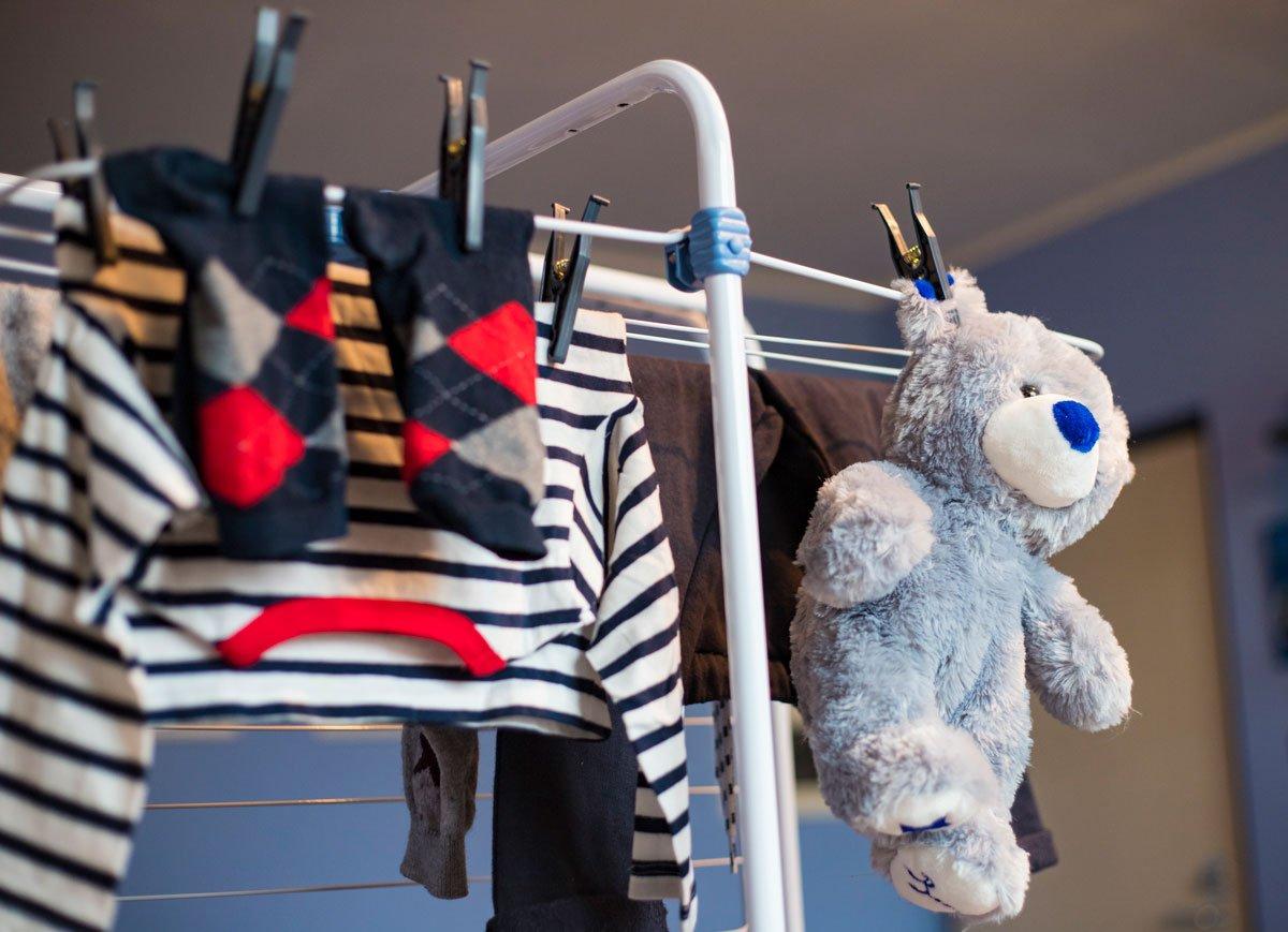 Jak na orosená okna, sušení prádla